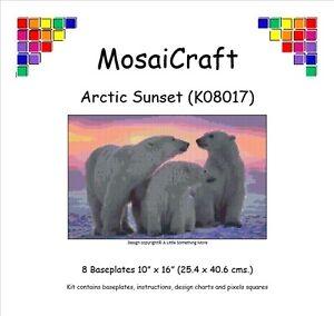 MosaiCraft-Pixel-Artigianato-Mosaico-Arte-Kit-039-tramonto-artico-039-Pixelhobby