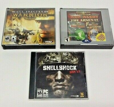 Sellshok Warrior and Command & Conquer Red Alert Lot of 3 PC (Command And Conquer Red Alert 3 Pc)