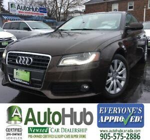 2012 Audi A4 AWD-LEATHER-SUNROOF-NEW TIRES
