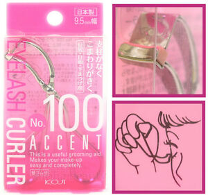 Koji Japan Makeup Mini Accent Eyelash Curler #100 (9.5mm wide)
