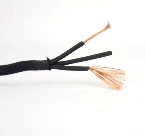 3 Cond. 18GA Black Cloth Covered Sheath Wire Emerson Brass Electric Fan Antique