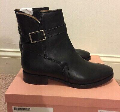 Acne Studios Black Ankle Boots Strap Buckle NIB $670 40 Bois