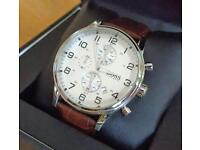 Hugo Boss Men's Stainless Steel Round Dial Strap Watch