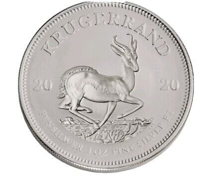2020 South Africa 1 oz Silver Krugerrand Coin GEM BU in stock
