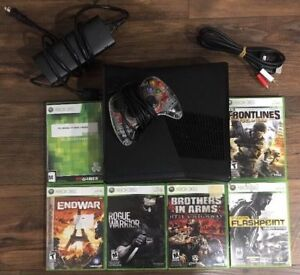 Xbox 360 Slim 4GB Hard Drive, Afterglow Controller & Six games