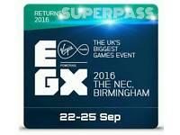 EGX 2016 (Superpass) Biggest GAMING event in UK