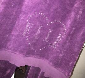 Elle Purple Velour Tracksuit Jogging Set