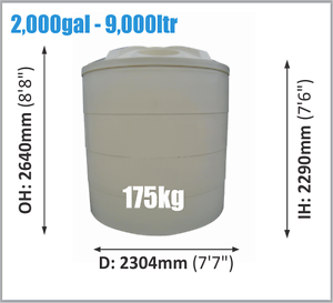 9000ltr Poly Rainwater Tank - NEW - ON SALE Kenilworth Maroochydore Area Preview