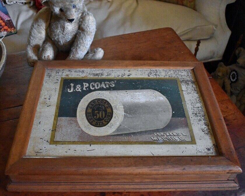 Antique J P Coats Spool Cabinet Display  - $300.00