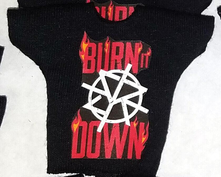 WWE Mattel Elite 1 Custom Seth Rollins Burn It Down Shirt fo