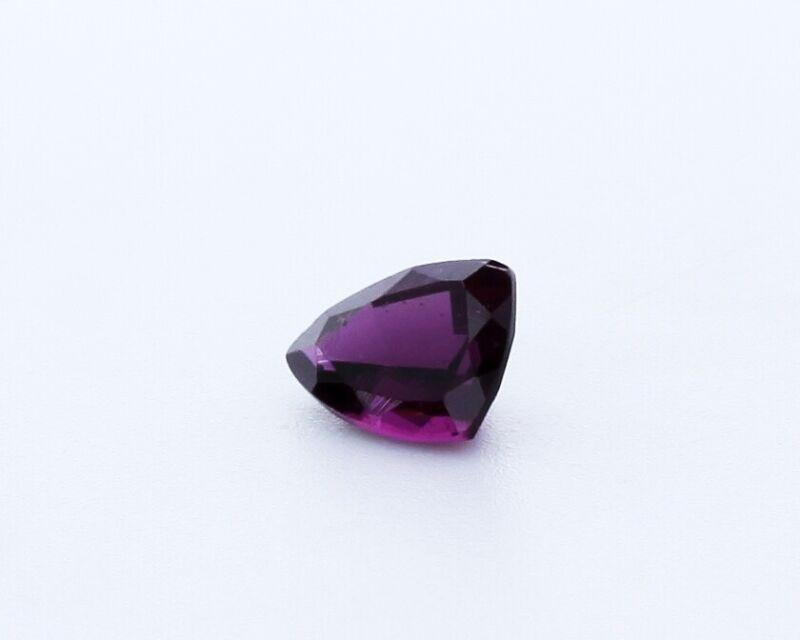 Vivid AAA Loose Rhodolite Trillion Shape Garnet Gemstone 1.33 Carat 6x7.9mm