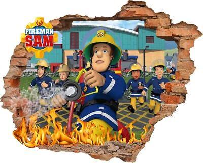 Feuerwehrmann Sam Wandtattoo  Fireman Sam wall stickers Wandaufkleber 57X73cm (Fireman Tattoo)