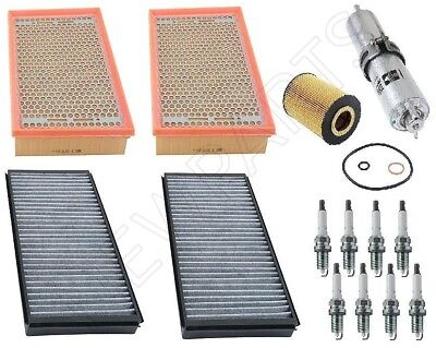 For BMW E66 750Li To 09/06 Premium Tune Up Kit Air Fuel Oil Filters Spark Plugs