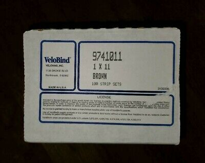 Velobind 9741011 1x11 Brown 100 Trip Sets. New