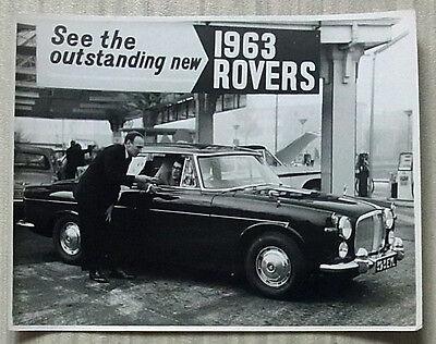 ROVER 3 LITRE SALOON Mk II (P5) Black & White Press Photograph c1963 HANK MARVIN