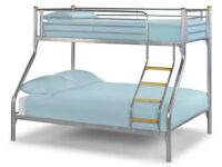 SOLID, Triple Sleeper, Metal bed, New, Bunk Beds, Mattress, Double bed, single aloft, deliver.