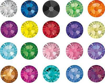 SWAROVSKI CRYSTALS FOILED FLAT-BACK 2058* ALL COLOURS RHINESTONE GEMS WITH DEAL