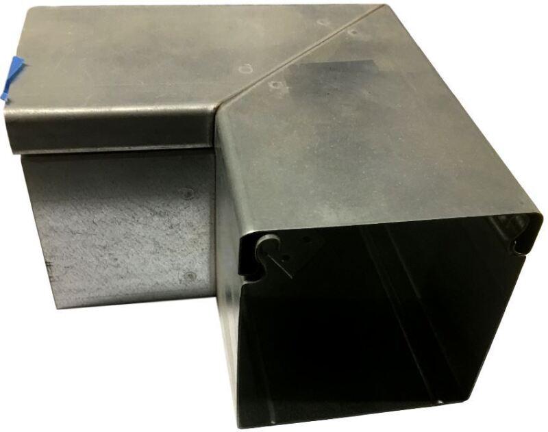 """LUWC100.100, Kleinhuis, 3.9 X 3.9"""" 90 Degree Horizontal Metal Corner"""
