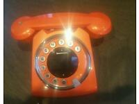 SAGEMCOM Sixty Digital Cordless Retro Style Touch Panel Telephone ORANGE