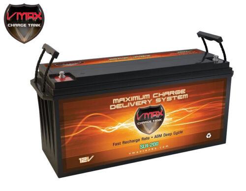 VMAX SLR200 AGM 12V 200AH Battery for Solar Storage, Wind Power, PV Solar Panel