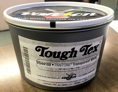 Van Son Tough Tex Printing Ink 44108 Pantone Transparent White 2.2lb Can