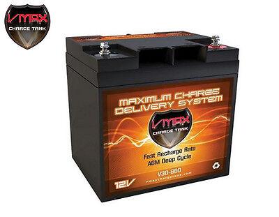 Vmax V30-800 Agm Deep Cycle12v 30ah Battery For Synthesis Renogy Pv Solar Panel