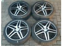"DEZENT 17"" ALLOY WHEELS SUPERB TYRES 4X108 FORD FIESTA RENAULT CITREON PEUGEOT ZETEC S ST"