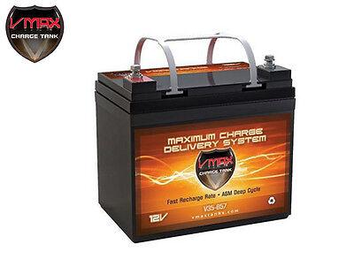 Vmax V35-857 Agm Deep Cycle 12v 35ah Battery For Synthesis Renogy Pv Solar Panel