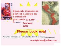 Spanish for beginners in Southend