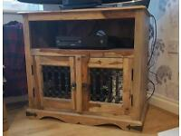 Solid wood tv stand. Jali Wood.