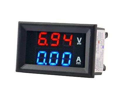 Dc 100v 10a Voltmeter Ammeter Bluered Led Amp Dual Digital Volt Meter Gauge Lc