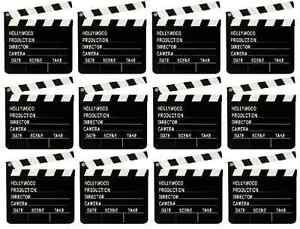 10 x Directors Clapperboard Hollywood Party Decoration Clapper Board Film Movies