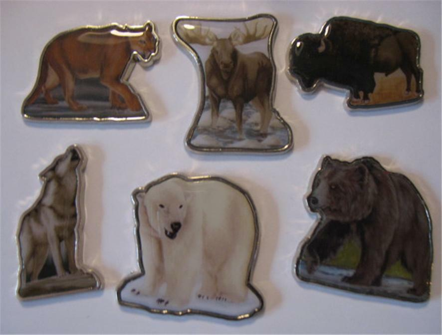 Great animals of north america 2008 somalia 6 coin set