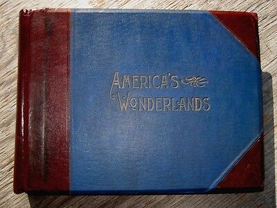 Antique PHOTO Book AMERICA Picturesque OLD WEST Travel RAILROAD Frontier INDIANS