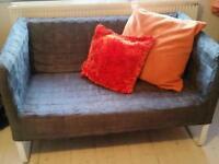 Grey metal frame sofa ikea