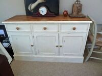 VInatge Painted Pine Sideboard or Dresser Base
