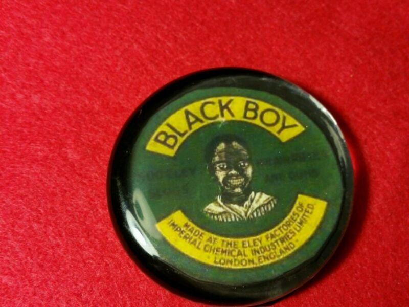 Vintage Style Black Boy Pellet Glass Paperweight Handmade by Artist