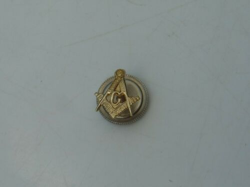 Vintage 10k Yellow Gold Lapel Pin Mason Freemason G Compass