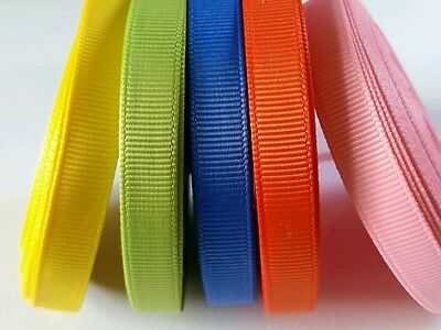 "wholesale 3/8 "" grosgrain ribbon lot  50 yards (5 colors -10y each) for hairbow"