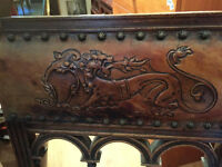 Vintage chair with dragon design , chair seat would need recovered . feel free to view