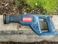 """ Four ""Ryobi one power tools and battery"