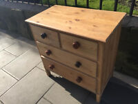 Chest of drawers , 2 drawers over 2 drawers . Size L 32in W 18in H 32in Free local delivery.