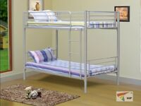 Bunk Bed Metal and Wooden
