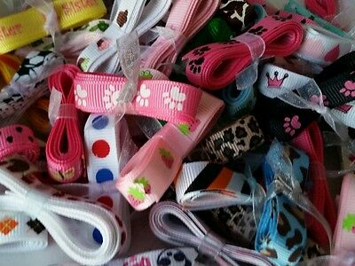 "GROSGRAIN ribbon print lot,3/8"" printed ribbon 50 yards(1 yard each)for hairbow"