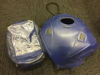 Honda Blackbird Bagster Tank Bag and Harness Blue