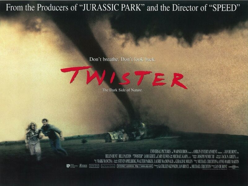 Twister movie poster print - Bill Paxton, Helen Hunt - 12 x 16 inches