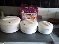 New and Unused Cello Hot Pots (set of 3)
