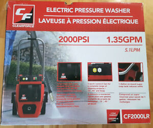 Clear Force 2000 PSI Electric Pressure Washer