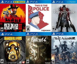 Selling/Trading PS4 Red Dead, Police, Fallout, Bloodborne, more