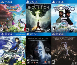 Selling/Trading PS4 Dragon Quest 11, Dragon Age, Sword Art, more